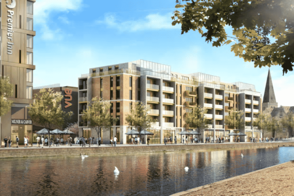 Keylon secure 100 Bedroom Hotel and 64 Unit Residential Scheme for Bouygues